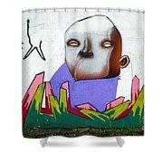 Graffiti Art Curitiba Brazil 17 Shower Curtain by Bob Christopher