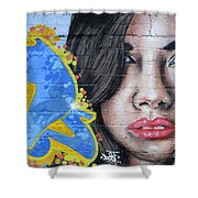 Grafitti Art Calama Chile Shower Curtain by Bob Christopher