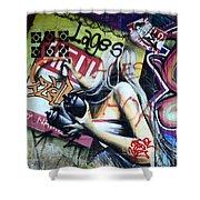 Grafitti Art Florianopolis Brazil 1 Shower Curtain by Bob Christopher