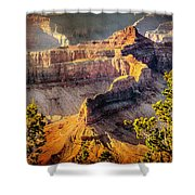 Grand Canyon National Park Shower Curtain by Bob and Nadine Johnston