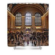 Grand Central Shower Curtain by Andrew Paranavitana