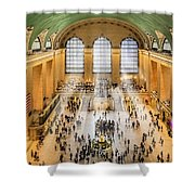 Grand Central Terminal Birds Eye View I Shower Curtain by Susan Candelario