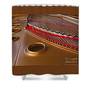 Grand Piano Shower Curtain by Ann Horn