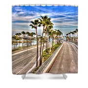 Grand Prix Of Long Beach Shower Curtain by Heidi Smith