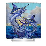 Grand Slam Off0016 Shower Curtain by Carey Chen