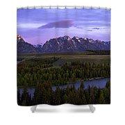 Grand Tetons Shower Curtain by Chad Dutson