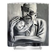 Grandpa Shower Curtain by Anthony Falbo