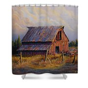 Grandpas Truck Shower Curtain by Jerry McElroy