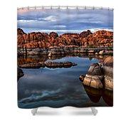 Granite Dells At Watson Lake Arizona 2 Shower Curtain by Dave Dilli