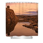 Granite Dells Shower Curtain by Priscilla Burgers