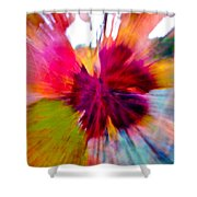 Grape Vine Burst Shower Curtain by Bill Gallagher