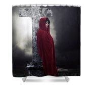 Graveyard Shower Curtain by Joana Kruse
