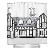 Great Bardfield St Johns Terrace Shower Curtain by Shirley Miller