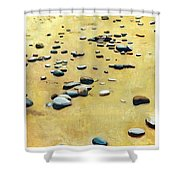 Great Lakes Triptych 2 Shower Curtain by Michelle Calkins