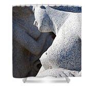 Greek statues Shower Curtain by Antony McAulay