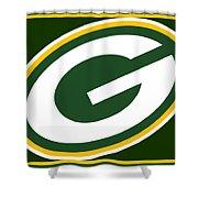 Green Bay Packers Shower Curtain by Tony Rubino
