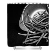 Green Beans Shower Curtain by Lauri Novak