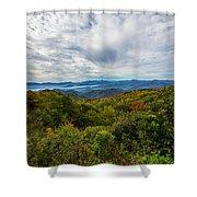 Green Knob Overlook Shower Curtain by John Haldane