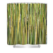 Green Melodies Shower Curtain by Lourry Legarde