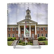Greeneville Town Hall Shower Curtain by Heather Applegate