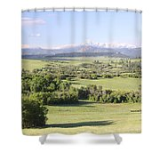 Greenland Ranch Shower Curtain by Eric Glaser