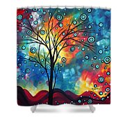 Greeting The Dawn By Madart Shower Curtain by Megan Duncanson