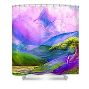 Greeting The Dawn Shower Curtain by Jane Small