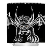 Grevil Chalk Shower Curtain by Shawn Dall