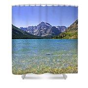 Grinnel Lake Glacier National Park Shower Curtain by Rich Franco