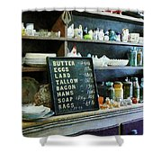 Groceries In General Store Shower Curtain by Susan Savad
