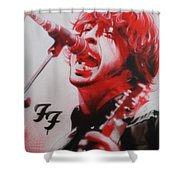 'Grohl II' Shower Curtain by Christian Chapman