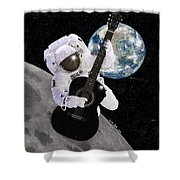 Ground Control to Major Tom Shower Curtain by Nikki Marie Smith