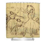 Group Of Dancers Shower Curtain by Edgar Degas