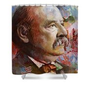 Grover Cleveland Shower Curtain by Corporate Art Task Force