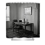 Guard Dining Area In Alcatraz Prison Shower Curtain by RicardMN Photography