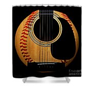 Guitar Baseball Square Shower Curtain by Andee Design