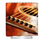 Guitar Bridge Shower Curtain by Elena Elisseeva