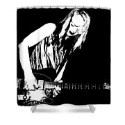 Guitar Girl Shower Curtain by Chris Berry
