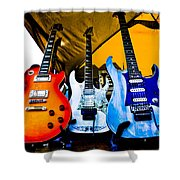 Guitar Trio Shower Curtain by David Patterson