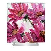Gull Lake's Flowers Shower Curtain by Sherry Harradence