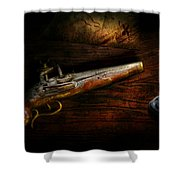 Gun - Pistol - Romance Of Pirateering Shower Curtain by Mike Savad