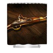 Gun - Pistols at dawn Shower Curtain by Mike Savad