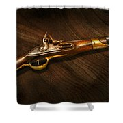 Gun - Pistols At Dawn Shower Curtain by Mike Savad