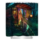 Gypsy Firefly Shower Curtain by Aimee Stewart