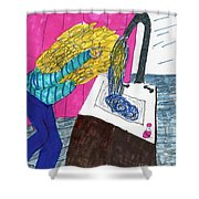 Hair Wash Shower Curtain by Elinor Rakowski