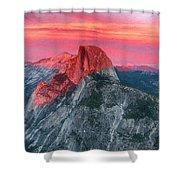 Half Dome Sunset From Glacier Point Shower Curtain by John Haldane