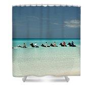 Half Moon Cay Bahamas Beach Scene Shower Curtain by David Smith