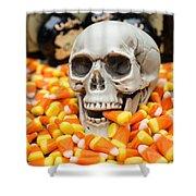 Halloween Candy Corn Shower Curtain by Edward Fielding