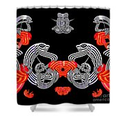 Halloween Party By Jammer Shower Curtain by First Star Art