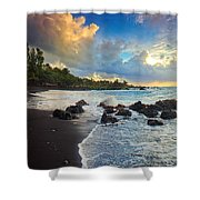 Hana Clouds Shower Curtain by Inge Johnsson